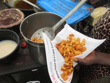 The crunchy bits that break off during frying (Eerun)